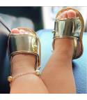 Sandali baby gold fringe