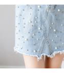 Minigonna denim perle