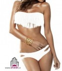 Bikini frange bianco