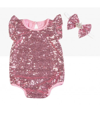 Body bimba pailettes rouges