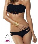 Bikini frange nero