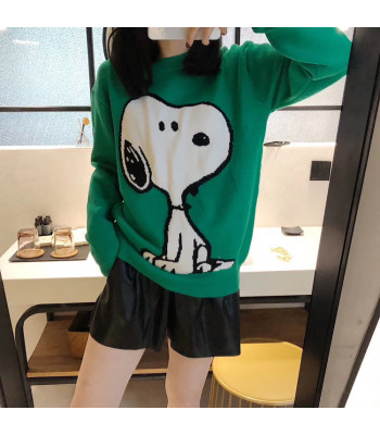 Maglione Snoopy Blue - Green
