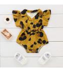Body scamiciato leopard baby