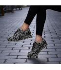 Sneakers leopard glitter