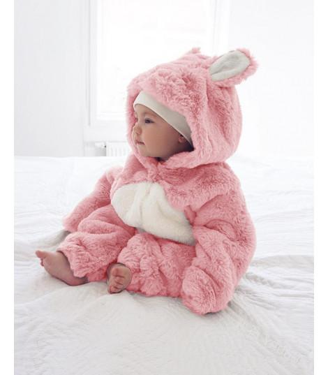 Baby tutina pink rabbit ciniglia