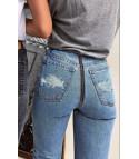 Levis 501 back zipper