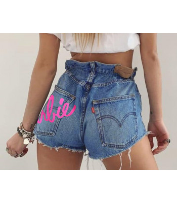 Shorts Levis 501 Barbie caramella