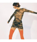 Dress in tulle camouflage
