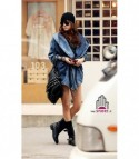 Trench in denim Jania Denim Blue
