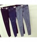 Skinny jeans strap dark denim