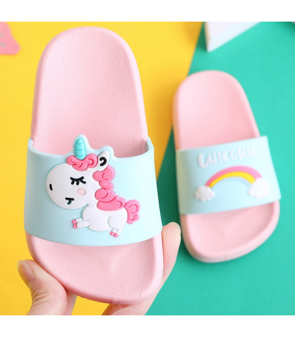 Baby unicorn pvc slippers