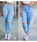 Skinny jeans strap light denim