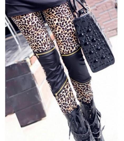 Pantalone Ecopelle Leopard