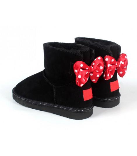 Boot fiocco rosso pois