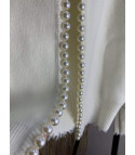Cardigan bordo perle