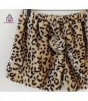 Shorts in ecopelliccia con coda