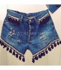 Shorts levis 501 black ponpon