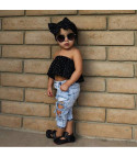 Completo bimba top pois + jeans