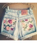 Shorts Levis Flower