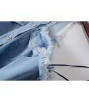 Camicia spallanuda jeans