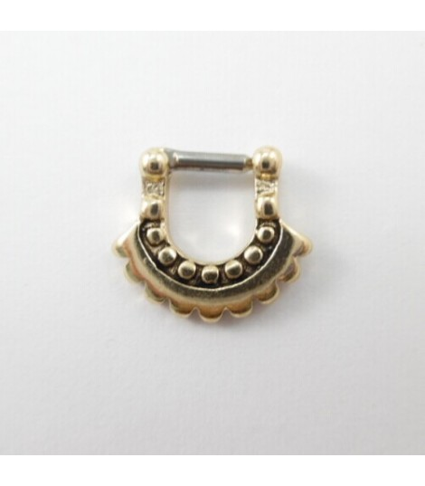 Aztec Moon Septum Clicker Ring