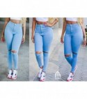 Skinny jeans strap light denim