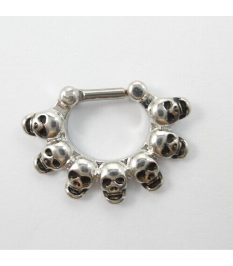 Skull Septum Clicker Ring