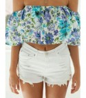 Shorts white denim Whitelace