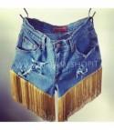 Shorts levis 501 gold fringe